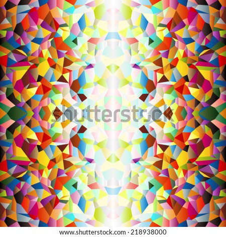 Mosaic small colorful tile background, fun abstract - stock vector