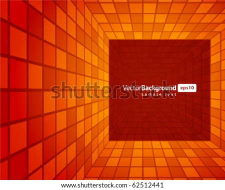 Mosaic tunnel vector background. Eps 10 - stock vector