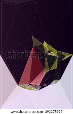 mosaic vector modern polygon style origami colorful