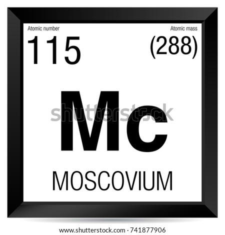 Moscovium symbol element number 115 periodic stock vector hd moscovium symbol element number 115 of the periodic table of the elements chemistry urtaz Choice Image