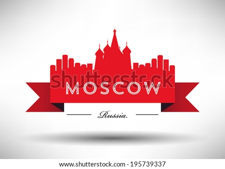 Moscow City Typography Design