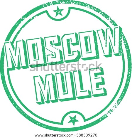 Moscow Mule Cocktail Stamp - stock vector