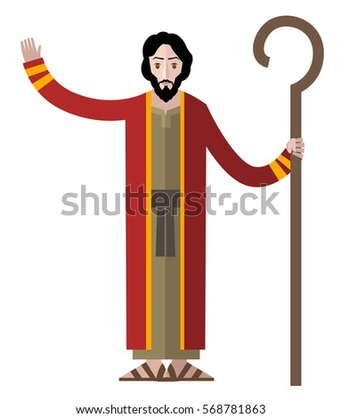 Moses His Staff Stock Vector Royalty Free 568781863 Shutterstock