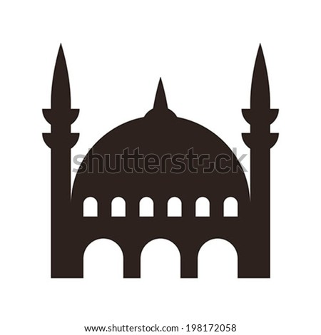Mosque icon isolated on white background - stock vector