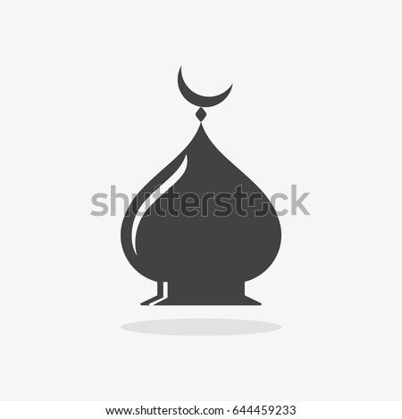 Mosque Icon On Gray Background Vector Stock Vector Royalty Free