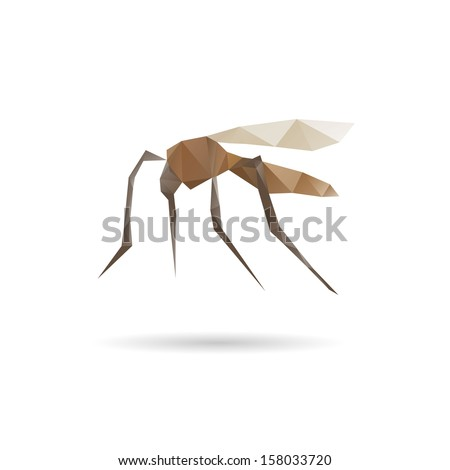 Mosquito abstract isolated on a white backgrounds, vector illustration - stock vector