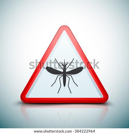 Mosquito Danger sign - stock vector