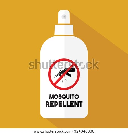 Mosquito repellent vector icon