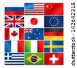 Most popular vector flags/Most popular vector flags - stock vector