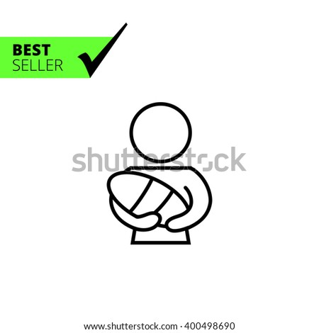 Mother and baby - stock vector