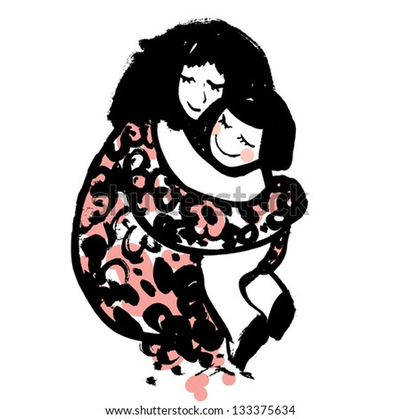 Mother and Child. - stock vector