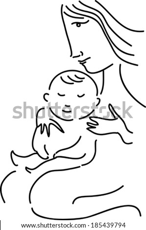 Mother and child - stock vector