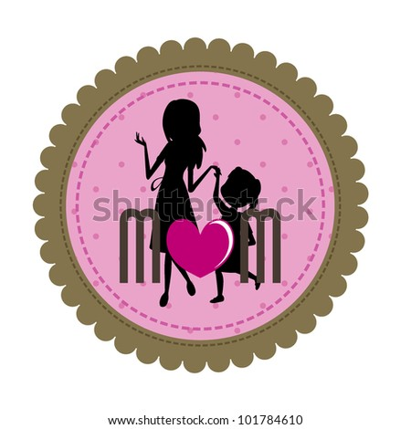 mother and daughter for mother's day, and other occasions - stock vector