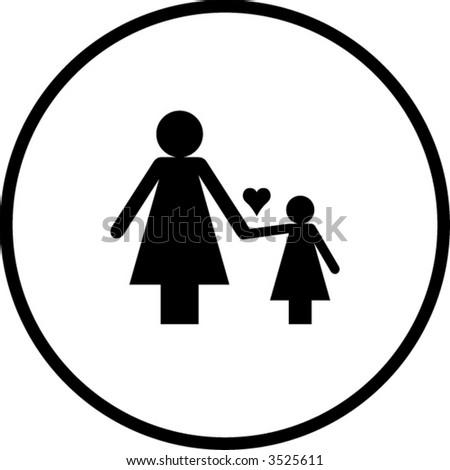 Mother Daughter Symbol Stock Vector 3525611 Shutterstock