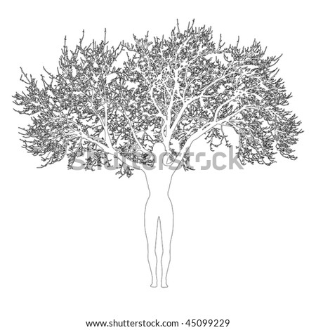 Mother nature vector - stock vector