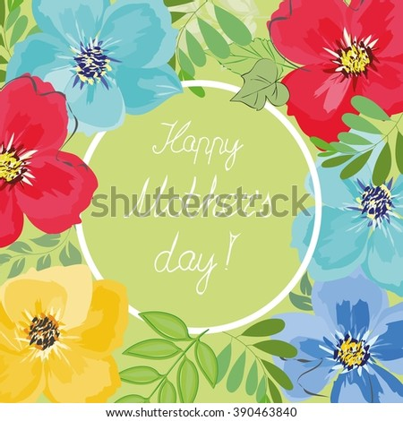Mother's day  background - stock vector
