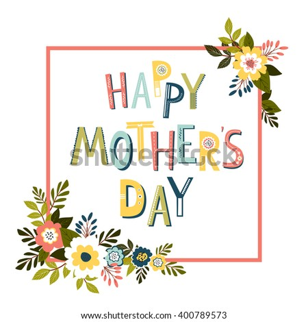 Mothers Day Card Template Vector Stock Vector 400789573 - Shutterstock