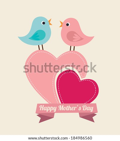 Mother's day design over beige background, vector illustration - stock vector