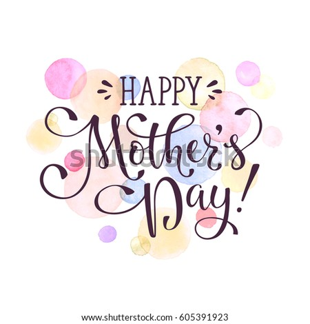 Mothers Day Greeting Card Template Happy Stock Photo Photo Vector