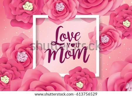 Mothers day greeting card flowers background stock vector 2018 mothers day greeting card with flowers background m4hsunfo