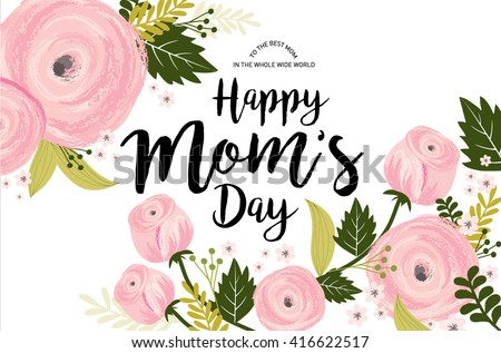 mother's day greeting template vector/illustration