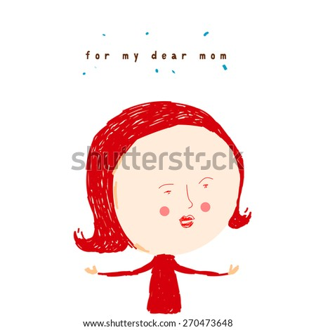 Mother's Day illustration - stock vector