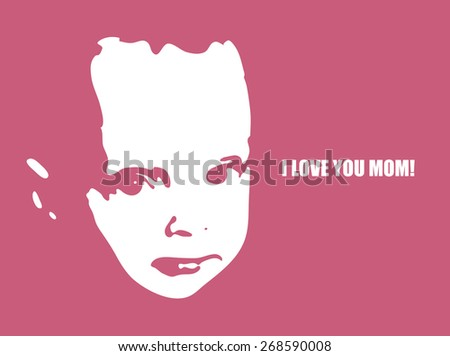 Mother's day. Vector illustration - stock vector