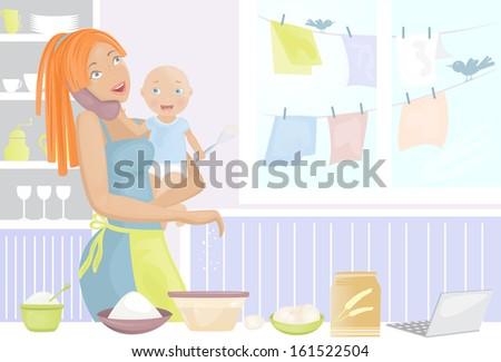 Mother (vector) - stock vector