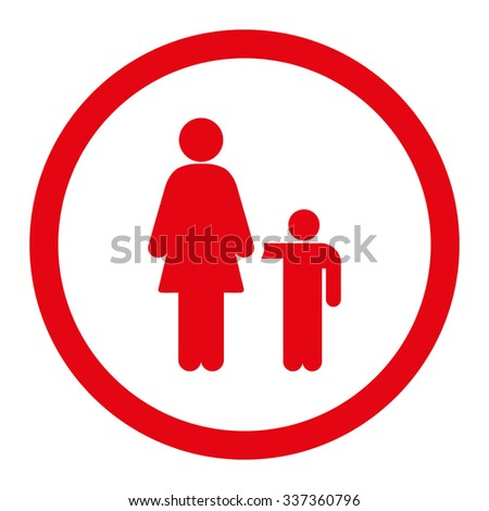 Mother Son Vector Icon Style Flat Stock Vector 337360796 Shutterstock