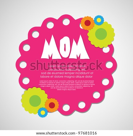 mothers day card - stock vector