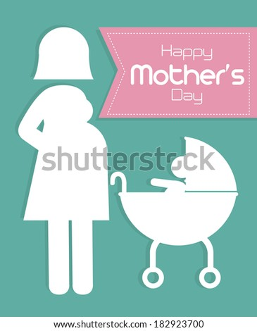 Mothers day design over blue background, vector illustration - stock vector