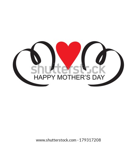 mothers day headline vector handlettering  - stock vector