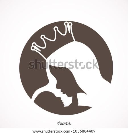 Mothers Day Icon Design Concept Symbol Stock Photo Photo Vector