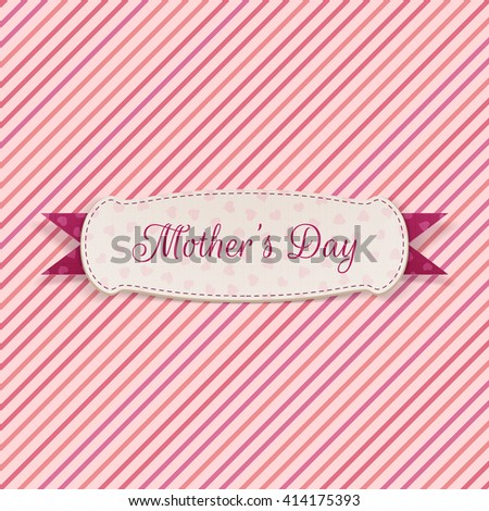 Mothers Day paper Label