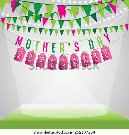 Mothers Day sale background EPS 10 vector illustration for greeting card, ad, promotion, poster, flier, blog, article, social media, marketing, flyer, web page, signage - stock vector