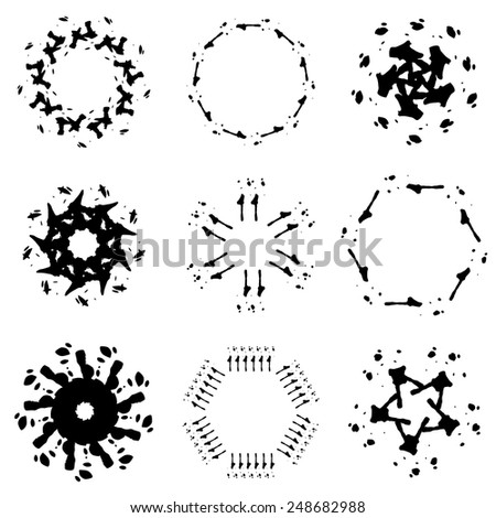 motif set  - stock vector