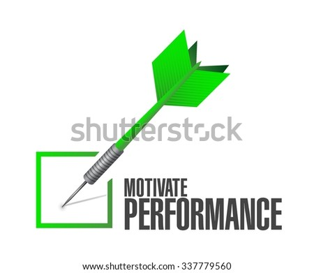 Motivate Performance check dart sign concept illustration design - stock vector