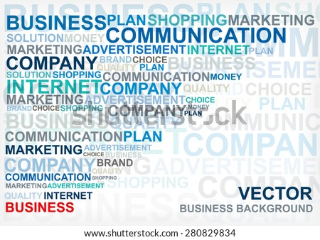 motivation business text background - stock vector