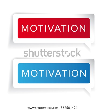 Motivation concept label vector - stock vector