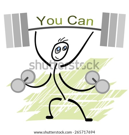 Motivational picture that encourages to action - stock vector