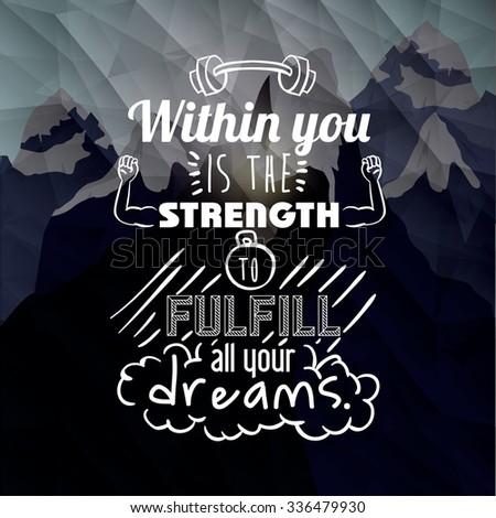 motivational poster message design, vector illustration eps10 graphic  - stock vector