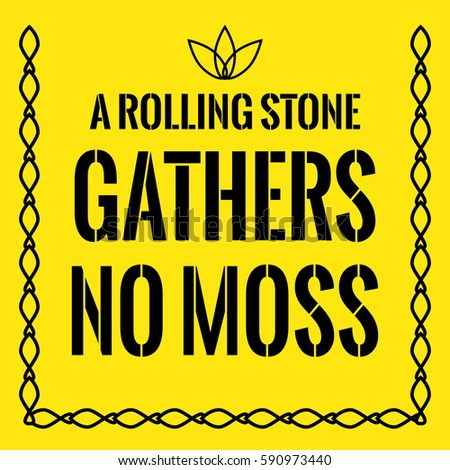 A Rolling Stone Gathers No Moss Essay