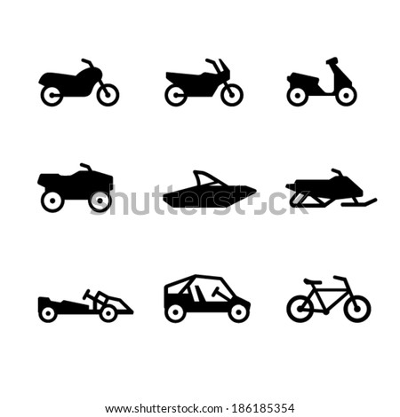 Moto icons - stock vector