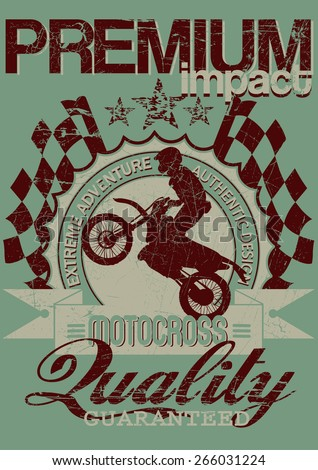 Motocross adventure  - stock vector