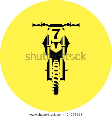 Motocross dirt-bike sign - stock vector