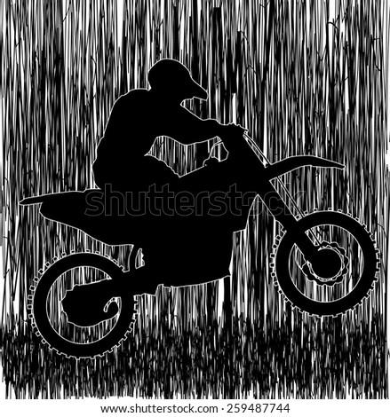 Motocross racer abstract vector design  - stock vector