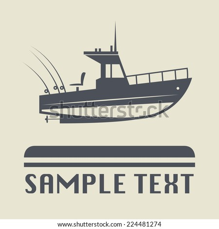 Motor boat icon or sign, vector illustration - stock vector