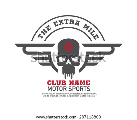 Motor logo graphic design logo sticker label arm