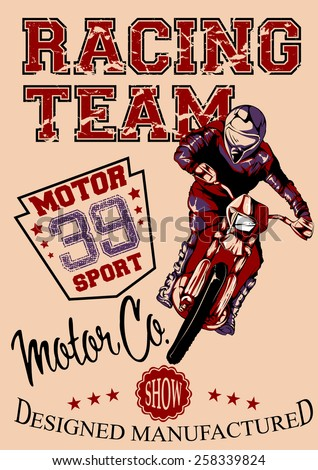Motor race - stock vector