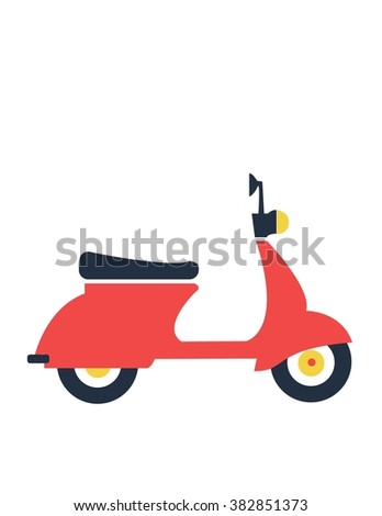 Motorbike flat icon, illustration vector. Travelling concept